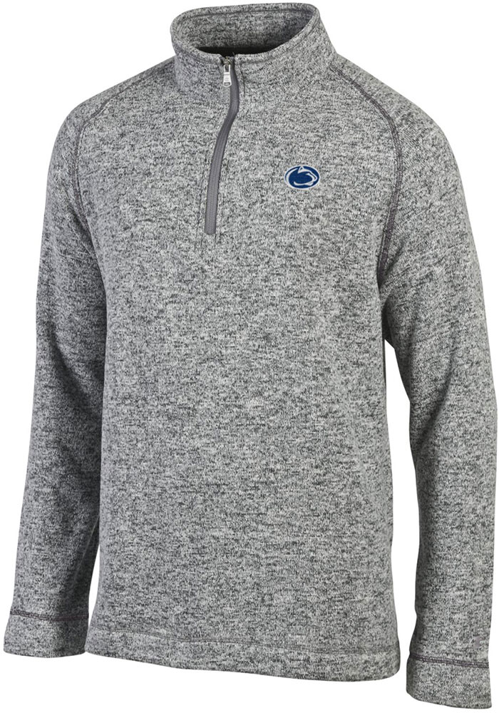 Champion Penn State Nittany Lions Mens Grey Arctic Long Sleeve 1/4 Zip Pullover - Image 1