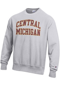 Central Michigan Chippewas Champion Reverse Weave Crew Sweatshirt - Grey