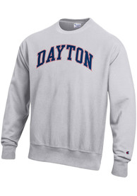 Dayton Flyers Champion Reverse Weave Crew Sweatshirt - Grey