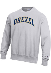 Drexel Dragons Champion Reverse Weave Crew Sweatshirt - Grey