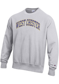 West Chester Golden Rams Champion Reverse Weave Crew Sweatshirt - Grey