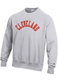 Cleveland Wordmark Crew Sweatshirt - Grey