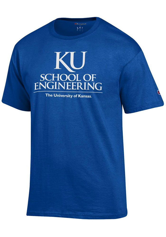Champion Kansas Jayhawks Blue School of Engineering Short Sleeve T Shirt - Image 1