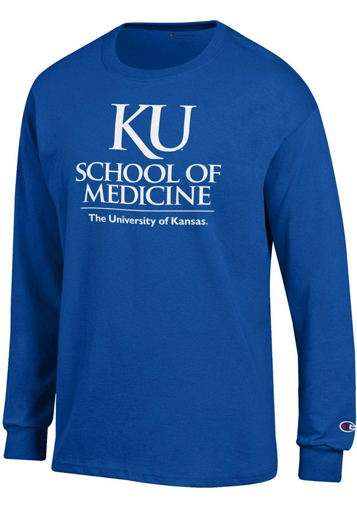 Champion Kansas Jayhawks Blue School of Medicine Long Sleeve T Shirt - Image 1