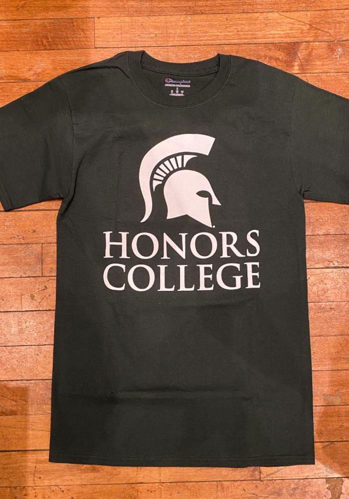 Champion Michigan State Spartans Green Honors College Short Sleeve T Shirt - Image 2