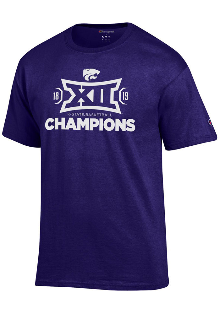 Champion K-State Wildcats Purple 2019 Big 12 Champions Short Sleeve T Shirt - Image 1