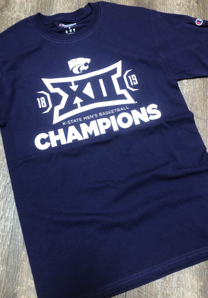 Champion K-State Wildcats Purple 2019 Big 12 Champions Short Sleeve T Shirt - Image 2