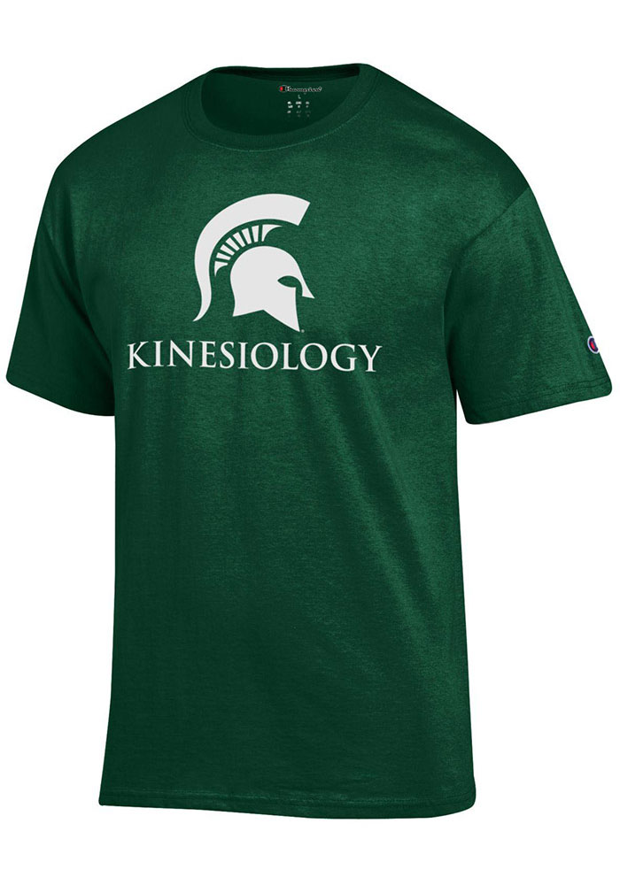 Champion Michigan State Spartans Green Kinesiology Short Sleeve T Shirt - Image 1