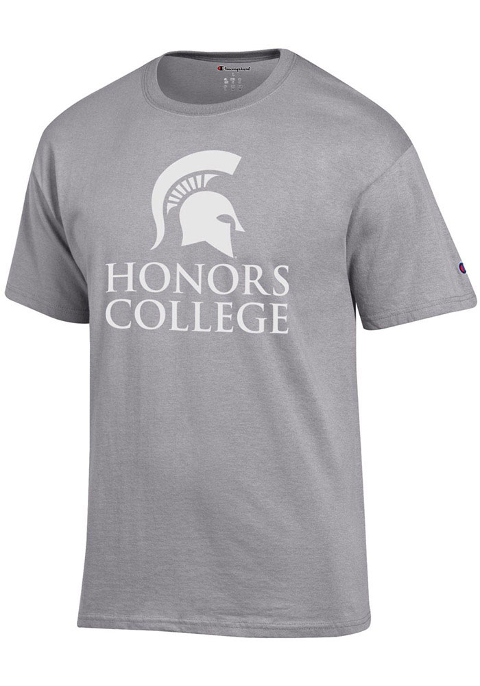 Michigan State Spartans Champion Honors College T Shirt - Grey