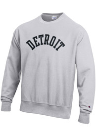 Detroit Wordmark Crew Sweatshirt - Grey