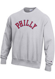 Philadelphia Wordmark Crew Sweatshirt - Grey