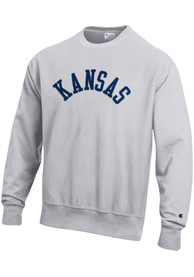 Kansas Wordmark Crew Sweatshirt - Grey