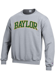 Baylor Bears Champion Arch Tackle Crew Sweatshirt - Grey