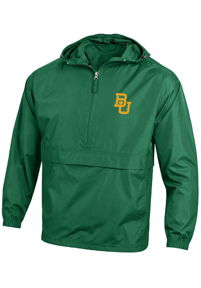 Champion Baylor Bears Mens Green Packable Light Weight Jacket - Image 1