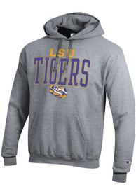 LSU Tigers Champion Name Drop Hooded Sweatshirt - Grey