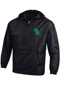 North Texas Mean Green Champion Primary Logo Packable Light Weight Jacket - Black