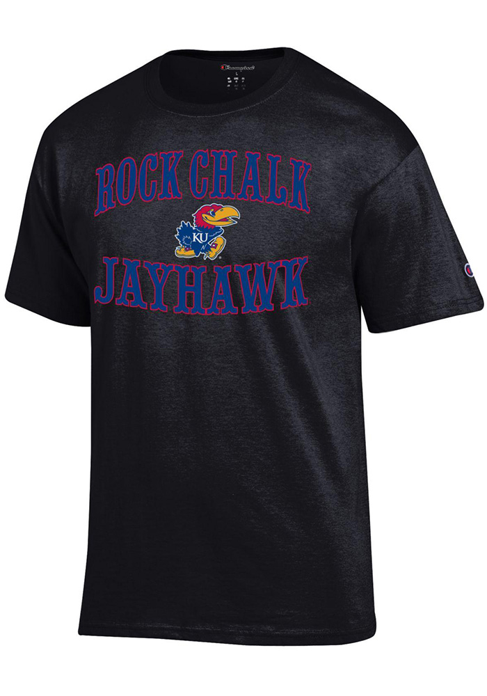 Kansas Jayhawks Champion Circus Slogan T Shirt - Black