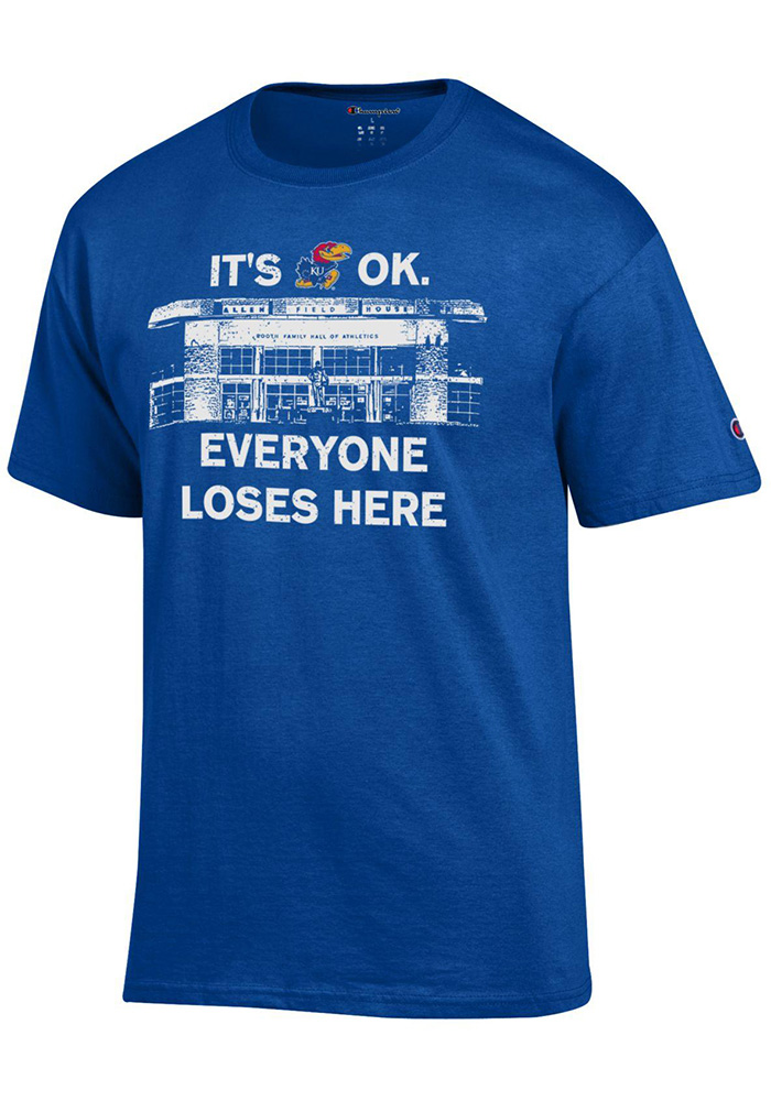 Champion Kansas Jayhawks Blue It s Okay Tee eb5c67d21