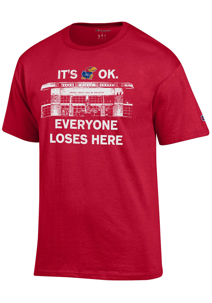 Kansas Jayhawks Champion Its Okay T Shirt - Red