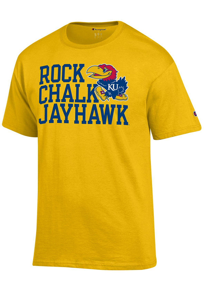Kansas Jayhawks Champion Slogan T Shirt - Gold