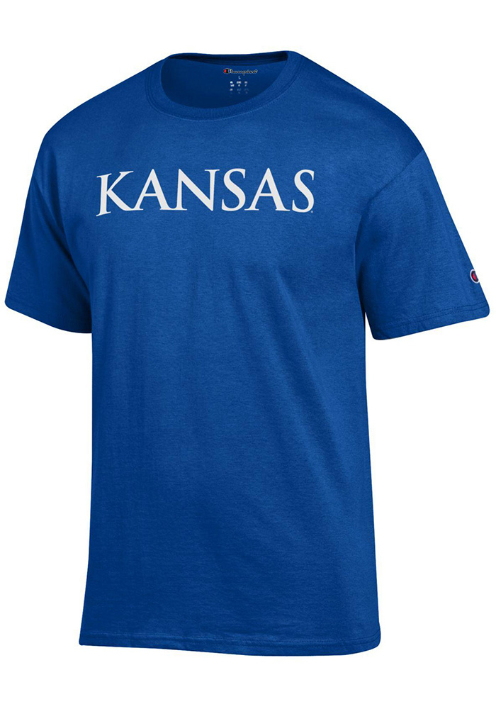 Kansas Jayhawks Champion Rally Loud T Shirt - Blue