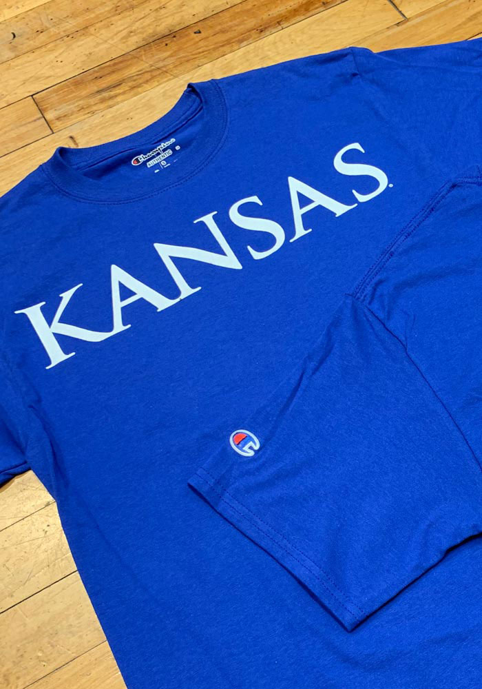 Champion Kansas Jayhawks Blue Rally Loud Short Sleeve T Shirt - Image 3