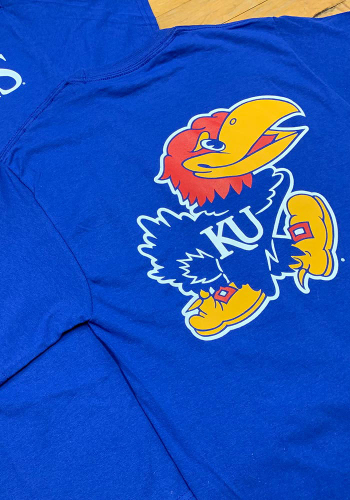 Champion Kansas Jayhawks Blue Rally Loud Short Sleeve T Shirt - Image 4