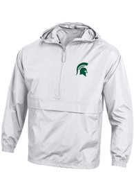 Michigan State Spartans Champion Logo Light Weight Jacket - White