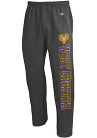 West Chester Golden Rams Champion Open Bottom Sweatpants - Charcoal