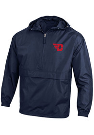 Dayton Flyers Champion Packable Light Weight Jacket - Navy Blue
