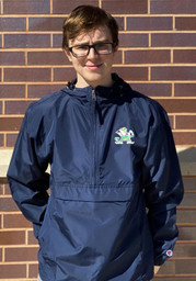 Champion Notre Dame Fighting Irish Mens Navy Blue Packable Light Weight Jacket