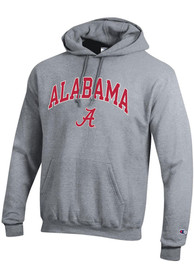 Alabama Crimson Tide Champion Arch Mascot Hooded Sweatshirt - Grey