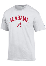 Alabama Crimson Tide Champion Arch Mascot T Shirt - White