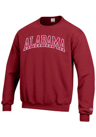 Alabama Crimson Tide Champion Arch Tackle Crew Sweatshirt - Crimson