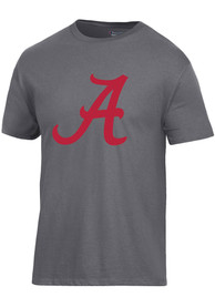 Alabama Crimson Tide Champion Big Logo T Shirt - Charcoal