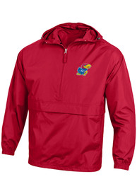 Kansas Jayhawks Champion Primary Logo Packable Light Weight Jacket - Red