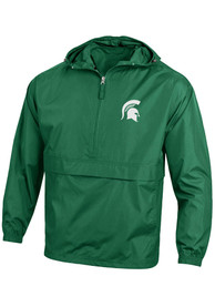 Michigan State Spartans Champion Spartan Logo Packable Light Weight Jacket - Green