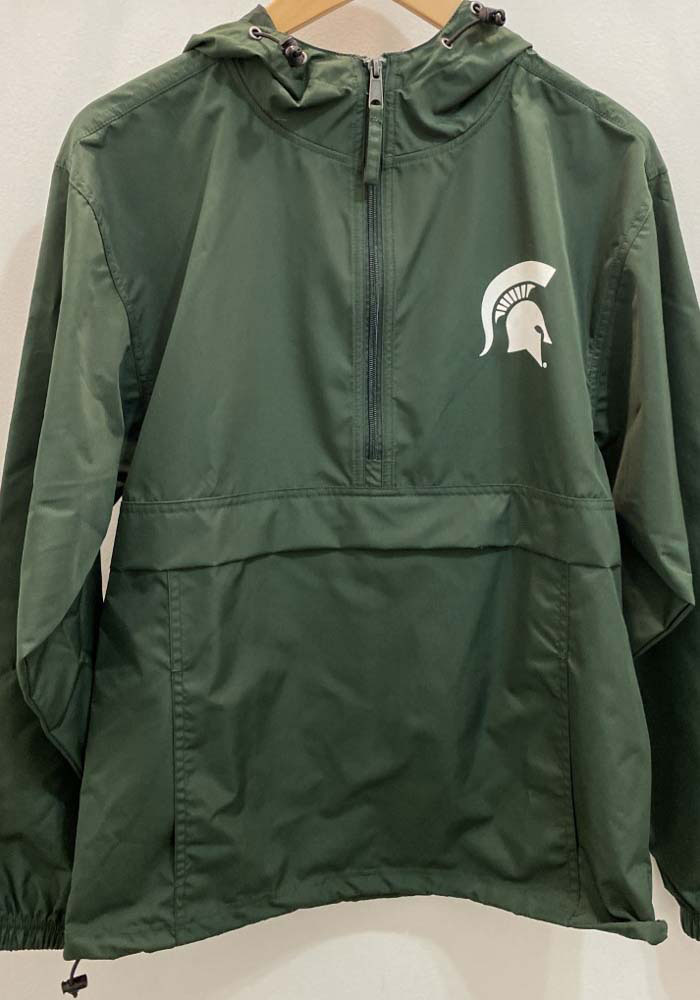 Champion Michigan State Spartans Mens Green Spartan Logo Packable Light Weight Jacket - Image 2