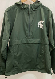 Champion Michigan State Spartans Mens Green Spartan Logo Packable Light Weight Jacket