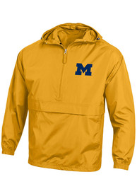 Michigan Wolverines Champion Logo Packable Light Weight Jacket - Yellow