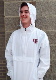 Champion Texas A&M Aggies Mens White Primary Logo Packable Light Weight Jacket