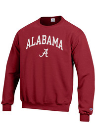 Alabama Crimson Tide Champion Arch Mascot Crew Sweatshirt - Crimson