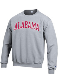 Alabama Crimson Tide Champion Arch Tackle Crew Sweatshirt - Grey