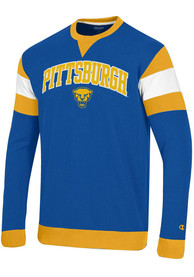 Pitt Panthers Champion Super Fan Crew Sweatshirt - Blue