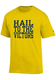size 40 bd0cf 7d363 Champion Michigan Wolverines Yellow Hail to the Victors Jersey Tee