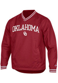 Oklahoma Sooners Champion Super Fan Scout Pullover Jackets - Crimson