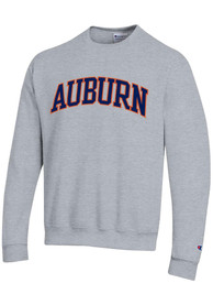 Auburn Tigers Champion Powerblend Tackle Twill Crew Sweatshirt - Grey