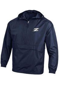 Akron Zips Champion Packable Light Weight Jacket - Navy Blue