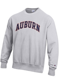 Auburn Tigers Champion Reverse Weave Arch Name Crew Sweatshirt - Grey