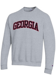 Georgia Bulldogs Champion Powerblend Tackle Twill Crew Sweatshirt - Grey